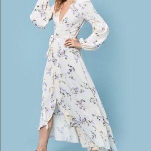 Christy dawn floral maxi dress size L